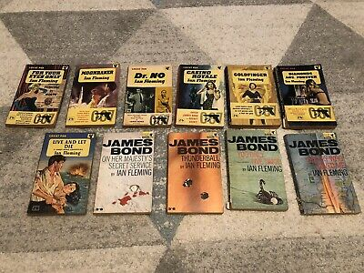 $27.46 • Buy 11 X IAN FLEMING JAMES BOND 007 PAN Paperback Editions Vintage 1960s 1950's Book