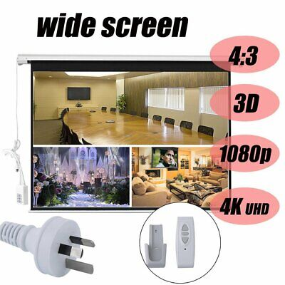 AU144.45 • Buy 120  Inch Electric Motorised Projector Screen Home Theatre HD TV Projection 3D