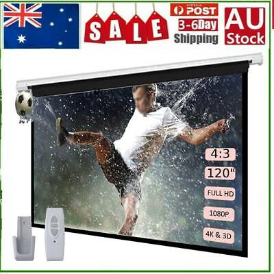 AU146.55 • Buy 120  Inch Electric Motorised Projector Screen Home Theatre HD TV 3D Projection