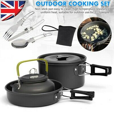 £19.99 • Buy Cook Set Portable Camping Cookware Kit Outdoor Picnic Hiking Cooking Equipment