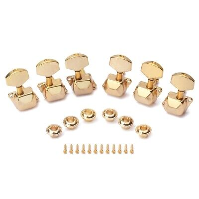 $ CDN27.73 • Buy 3L Sealed Tuning Pegs Tuner Machine Heads Buttons Gilding For ST/ Guitar