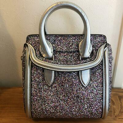 AU682.44 • Buy Alexander McQueen Lame Hand Tote Shoulder Bag Glitter Silver Women's From Japan