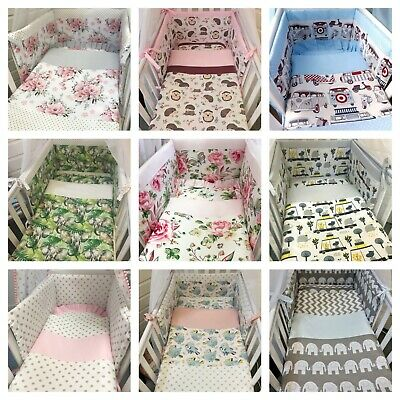 £35 • Buy Space Saver Bedding Set 100x50 Pillow,quilt,bumper Made With 100%cotton Fabric