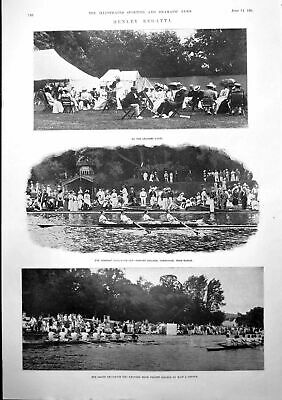 Old Henley Regatta Cricket Oxford Cambridge Lords Stanley Rowley 1900 Victorian • 23£
