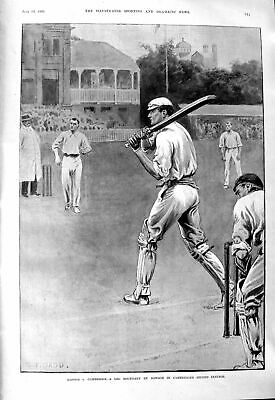 Old 1901 Oxford Cambridge Cricket Dowson Longman Blaker Fargus Theatr Victorian • 20£