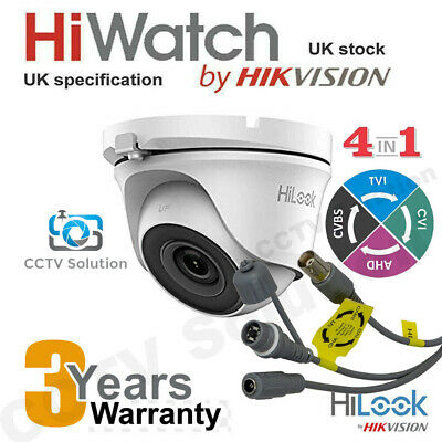 £19.99 • Buy Hikvision HiLook CCTV Camera 2MP 1080P IP66 20M EXIR Night Vision Outdoor 4 In 1