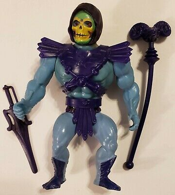 $210 • Buy MOTU 1981 -  Vintage 8-back SKELETOR Complete - Peach Cheeks, Purple Shorts
