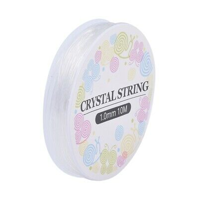 £2.09 • Buy Clear Beading Elastic Stretchy Strong Bracelet Making 1mm Thick 10 Metre ON REEL