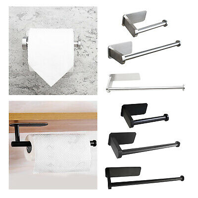 AU15.15 • Buy Toilet Paper Holder Kitchen Tissue Roll Stand Stainless Steel No Drilling