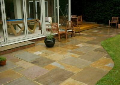 £940 • Buy Raj Green Indian Sandstone Paving Natural Patio 18MM Slabs Mix Sizes 21.62 M2 A1