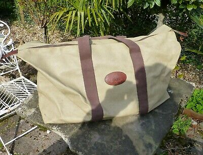 £290 • Buy Rare Vintage Mulberry Clipper Holdall Bag Beige Scotchgrain Leather Weekend