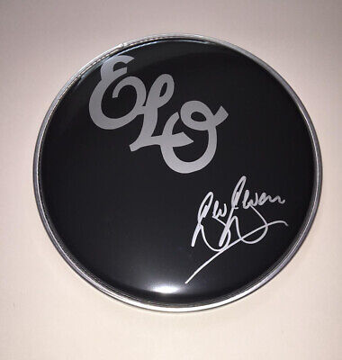 "Signed Bev Bevan Elo 8"" Black Drum Head Rare Authentic Jeff Lynne Mr Blue Sky • 79.99£"