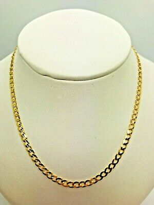 £250 • Buy 9ct Yellow Solid Gold Curb Chain – 3.4mm - 26  **** CHEAPEST ON EBAY ****