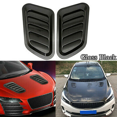 $16.59 • Buy Universal Car Decorative Air Flow Intake Scoop Bonnet Simulation Vent Cover Hood