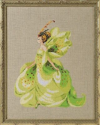 £11.50 • Buy  Green Lady Slipper  Counted Cross Stitch Chart Pack By Nora Corbett