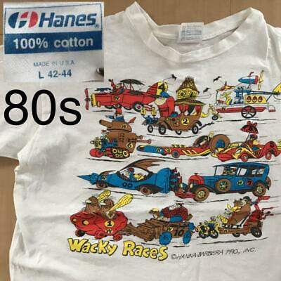 £147.81 • Buy Wacky Races 80's Vintage T-shirt Used Hanes Size L Made In USA Single Stich F/S