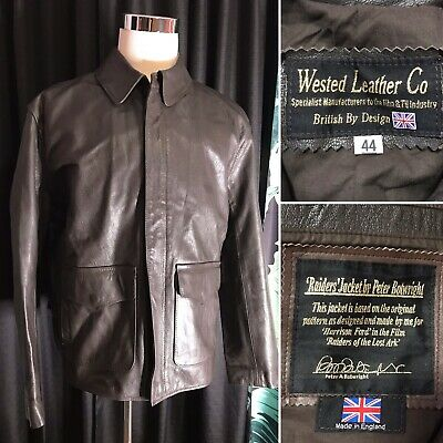 Wested Leather Jacket Raiders Of The Lost Ark Indiana Jones Men's XL 44 UK • 144.28£