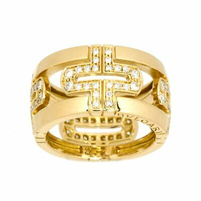 AU3056.25 • Buy BVLGARI Parentesi Diamond Ring 18K K18 YG 750 Size53 6(US) 90123740