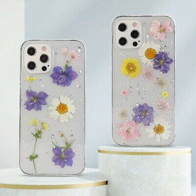 AU8.95 • Buy Cute Glitter Real Dried Flower Case Cover Shell For IPhone 12 Mini 11 Pro Max XS