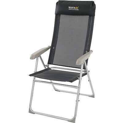 £49.95 • Buy Regatta Colico Outdoor Camping Armed Reclining Lounge Deck Chair - Black