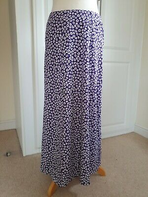 Ladies New Purple Mix COTSWOLD COLLECTION LONG SKIRT SIZE L SMALL FIT  • 8.99£