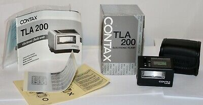 $ CDN361.82 • Buy Contax Black TLA 200 Flash For G1 & G2  MINT Condition In Box