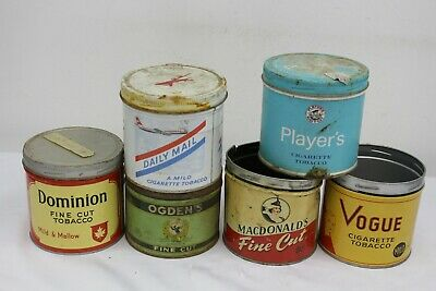 $ CDN18.23 • Buy Vintage Cigarette Tin Advertising Lot Vogue Daily Mail Players Macdonalds