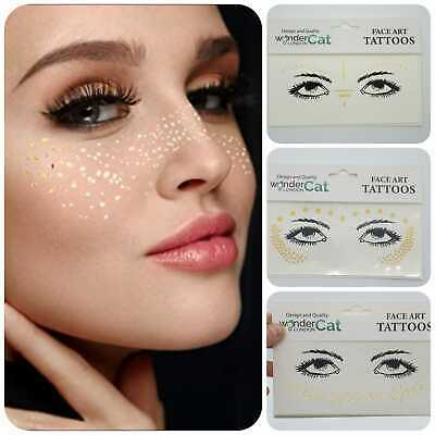 £1.39 • Buy Face Tattoo Sticker Gems Adhesive Glitter Jewel Festival Rave Party Body Make Up
