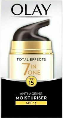 AU17.69 • Buy Olay Total Effects 7 In One Anti-Ageing Moisturiser Spf15 50ml New & Sealed