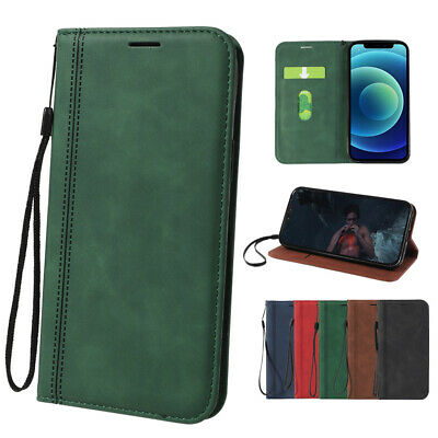 AU9.99 • Buy Case For IPhone 11 12 Pro Max XR XS X Leather Wallet Flip Card Slot Stand Cover
