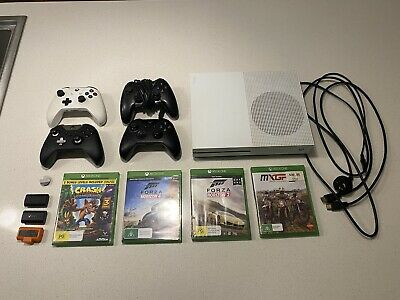 AU350 • Buy Xbox One S 500gb With 4 Games, Controllers And Battery Packs