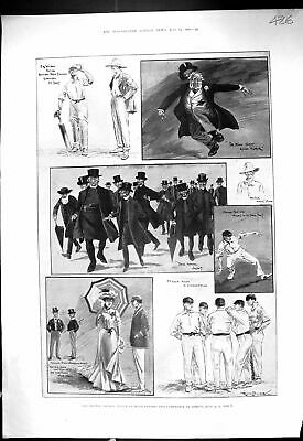 Old 1901 Cricket Sport Oxford Cambridge Lords Knox Wilson Mrs Grover Victorian • 19£