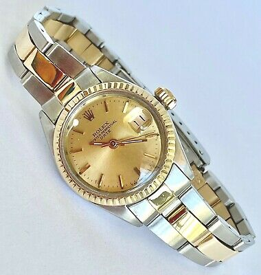 $ CDN4053.33 • Buy Rolex Ladies Date Watch Gold And Stainless Steel Champagne Dial