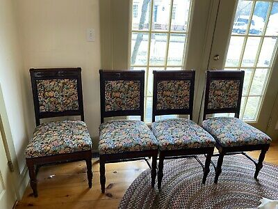$1500 • Buy Antique Mahogany Eastlake Dining Room Chairs Set Of 12