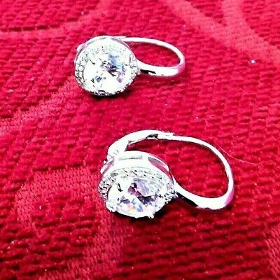 $ CDN7.78 • Buy QVC Silver Diamonique Drop Earrings. No Reserve