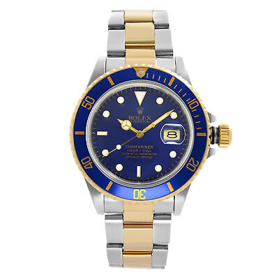 $ CDN12098.30 • Buy Rolex Submariner 40mm 18k Yellow Gold Steel Blue Dial Automatic Mens Watch 16803