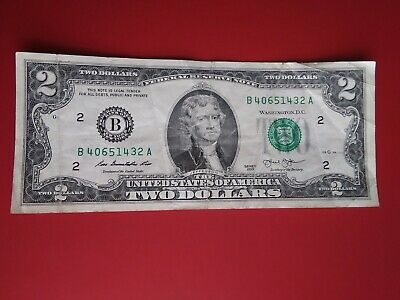 $23.99 • Buy US 2 Dollar Bill Rare Unique Serial Number Mixed Ladder 0 Thru 6 40651432