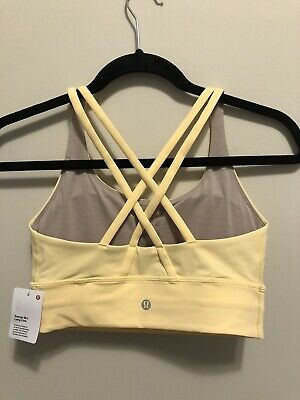 $ CDN53.74 • Buy NWT Lululemon Size 8 Energy Bra Long Line HALO Yellow
