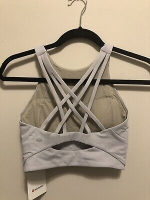 $ CDN37.48 • Buy NWT Lululemon Size 4 Free To Be Serene Bra High Neck LL Special Edition Grey