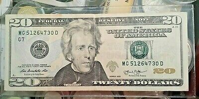 $80.50 • Buy 2013 $20 Twenty Dollar Bill Mixed Ladder Fancy Serial Number  . Straight 0 To 7