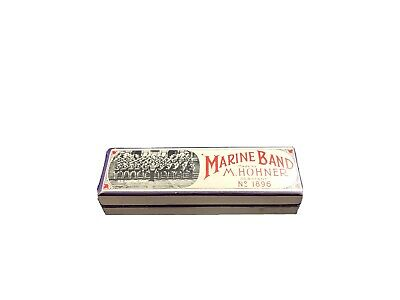 $35 • Buy Vintage M. Hohner Marine Band Harmonica Key Of D Made In Germany 1896 Model A440