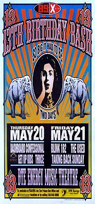 $40.04 • Buy Dashboard Confessional Poster W/ Blink 182 2004 Concert