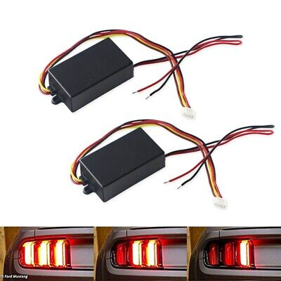$15.59 • Buy Universal 3-Step Sequential Chase Flash Module Boxes For Car Turn Signal Light