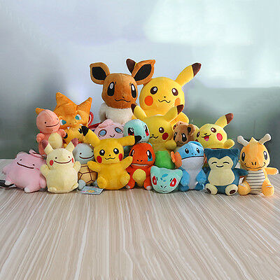 £1.99 • Buy New Pokemon Collectible Plush Character Soft Toy Stuffed Doll Teddy Xmas Gift