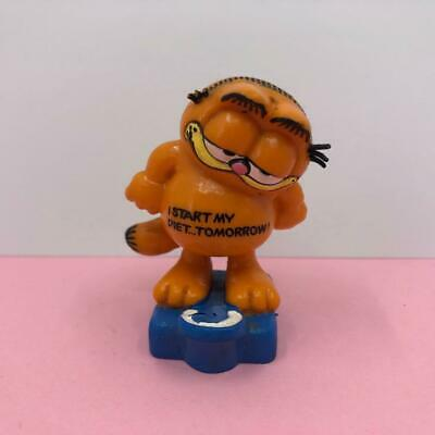Vintage Bullyland Garfield The Cat Diet Starts Tomorrow PVC Toy Figure 1980s • 9.99£