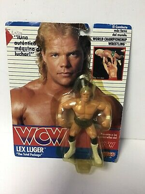$ CDN156.21 • Buy Vintage WCW WWE 1990 LEX LUGER Action Figure Galoob Series 1 New MOC Spanish