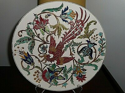 AU240 • Buy Large Antique Wall Display Plate, Zsolnay? Schutz?