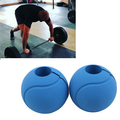 AU19.21 • Buy Silicone Barbell Hand Ball Grips Dumbbell Fat Grip Pull Up Weight Lifting Grip
