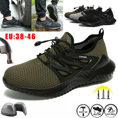 AU51.69 • Buy Men's Steel Toe Safety Shoes Lightweight Breathable Stab Anti-smash Work Shoes