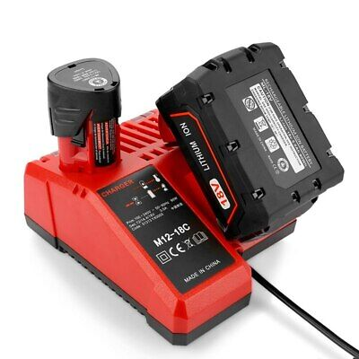 $ CDN70.44 • Buy Li-ion Battery Charger Suitable For Milwaukee Lithium Long Charging Protection